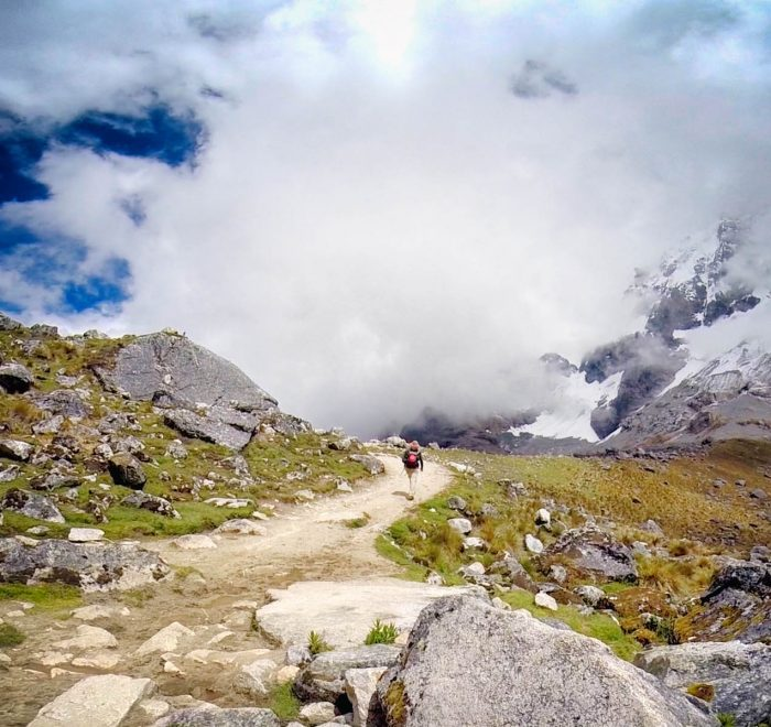 Trekking tour in the peruvian mountains