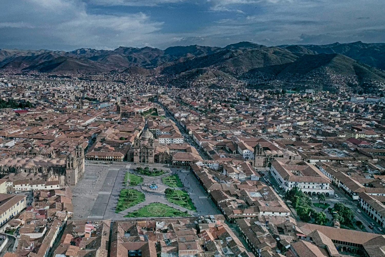Vista panorámica del centro de Cusco