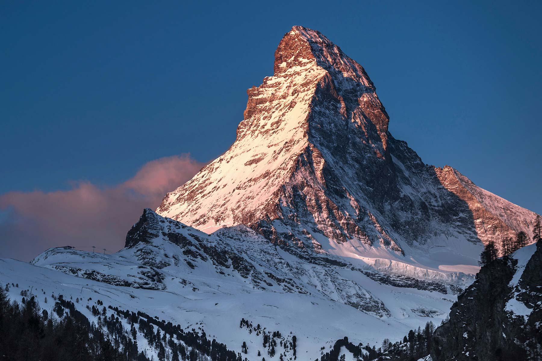 Matterhorn snow peak mountain