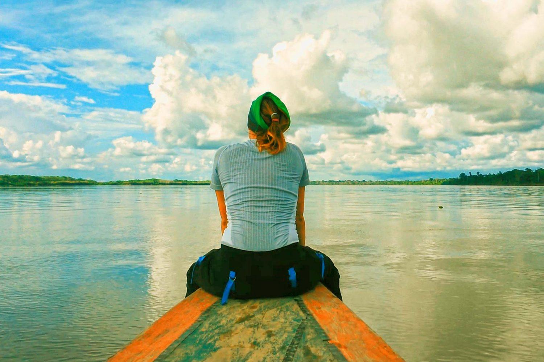 11Vista del río amazonas en el bote